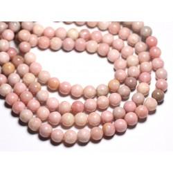 4pc - Perles de Pierre - Opale Rose Boules 10mm - 4558550084552
