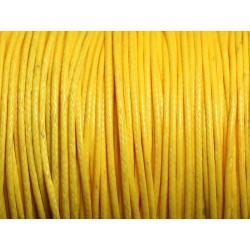 5 Mètres - Cordon de Coton Ciré 1mm Jaune 4558550016010