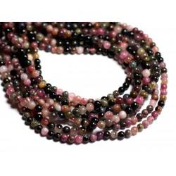 10pc - Perles de Pierre - Tourmaline Multicolore Boules 4mm 4558550013736