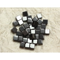 10pc - Perles de Pierre - Hématite Cubes 8x6mm 4558550016485