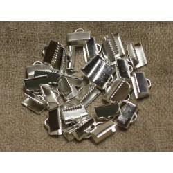 100pc - Embouts Métal Argenté qualité 10x5mm 4558550016683