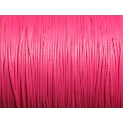 10m - Cordon de Coton Ciré 0.8mm Rose Fluo 4558550015914