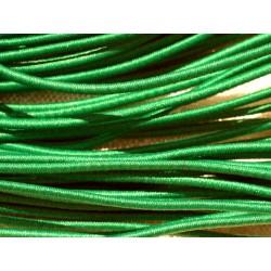 Echeveau 19m - 5 Fils 3,80m Elastique Tissu 1mm Vert 4558550018519