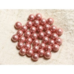 10pc - Perles Nacre Boules 8mm ref C2 Rose Saumon 4558550004246