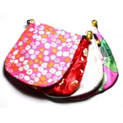 2pc - Sacs Pochettes Cadeaux Bijoux Tissu Satin 11cm Multicolore - 4558550082428