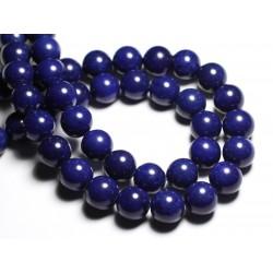 4pc - Perles de Pierre - Jade Boules 14mm Bleu Nuit - 4558550081612
