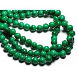 10pc - Perles de Pierre - Jade Boules 8mm Vert Empire - 4558550081698