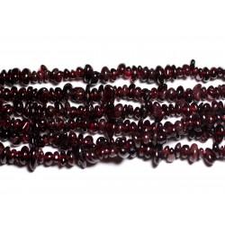 170pc environ - Perles Rocailles Chips de Pierre - Grenat 3-7mm 4558550028945