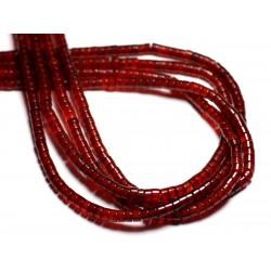 10pc - Perles de Pierre - Cornaline Rondelles 4x2mm - 4558550081889