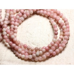 10pc - Perles de Pierre - Opale Rose Boules 6mm - 4558550082282