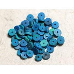 10pc - Perles de Pierre - Turquoise teintée Rondelles 8x2mm - 4558550082176
