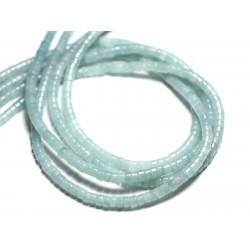 40pc - Perles de Pierre - Quartz turquoise naturel Rondelles 4x2mm - 4558550081865