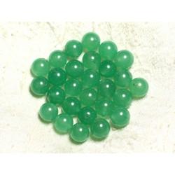 10pc - Perles de Pierre - Jade Boules 10mm Vert 4558550002433