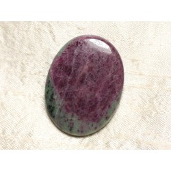 Cabochon de Pierre - Rubis Zoïsite Ovale 44x33mm N30 - 4558550081407