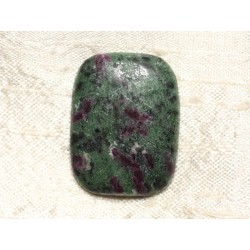 Cabochon de Pierre - Rubis Zoïsite Rectangle 32x29mm N39 - 4558550081490