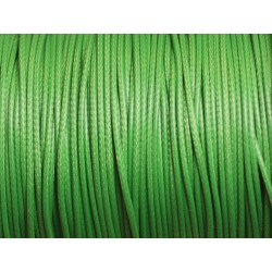 5 Mètres - Cordon de Coton Ciré 1mm Vert 4558550016027