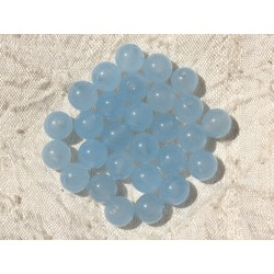 10pc - Perles de Pierre - Jade Boules 8mm Bleu clair 4558550017901
