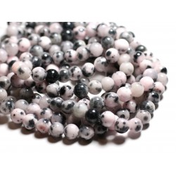 10pc - Perles de Pierre - Jade Boules 8mm Blanc, Noir, Rose clair - 4558550039675