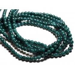 20pc - Perles de Pierre - Jade Boules 6mm Bleu Vert Paon Opaque - 4558550039651