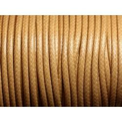 3 mètres - Cordon Coton Ciré 3mm Beige 4558550002235
