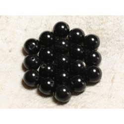 4pc - Perles de Pierre - Obsidienne Noire et Fumée Boules 12mm 4558550039002