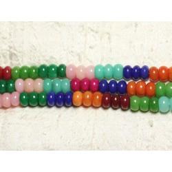 1 Fil 39cm - Perles de Pierre - Jade Rondelles 10x6mm Multicolore 4558550002341