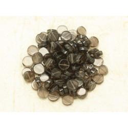 Sac 48pc - Perles de Pierre - Quartz Fumé Palets 8-10mm 4558550000118