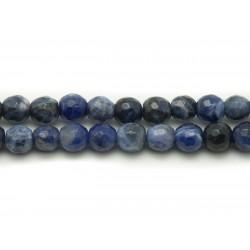 10pc - Perles de Pierre - Sodalite Boules Facettées 6mm 4558550037824