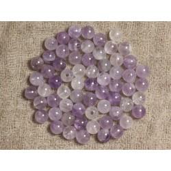 10pc - Perles de Pierre - Améthyste Lavande Boules 6mm 4558550000552