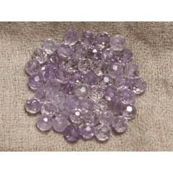 10pc - Perles de Pierre - Améthyste Lavande Boules Facettées 6mm 4558550000569