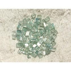 10pc - Perles de Pierre - Aigue Marine Cubes Rectangles 2.5 - 5mm 4558550004567