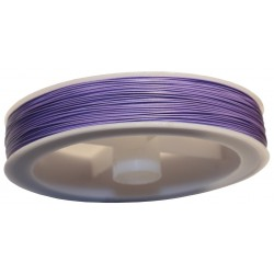 Bobine 100 mètres - Fil Métal Câblé Acier 0.35mm Violet Mauve 4558550000699