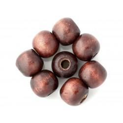 10pc - Perles Bois Boules 10-12mm Marron 4558550001221