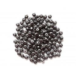 20pc - Perles de Pierre - Hématite Rondelles facettées 4x2mm 4558550002006
