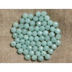 10pc - Perles de Pierre - Amazonite Boules Facettées 6mm 4558550002129