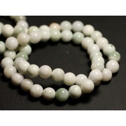 4pc - Perles de Pierre - Jade Blanche et Vert Amande Boules 14mm 4558550010209
