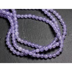 40pc - Perles de Pierre - Jade Mauve Lavande Boules 4mm 4558550002488