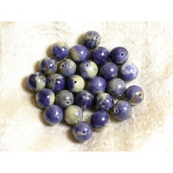 4pc - Perles de Pierre - Sodalite N°2 Boules 10mm 4558550002945