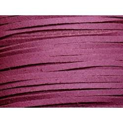 5 mètres - Cordon Lanière Suédine 3x1.5mm Violet 4558550002969