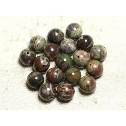 4pc - Perles de Pierre - Opale Verte Boules 12mm 4558550003249
