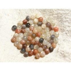 10pc - Perles de Pierre - Pierre de Lune Multicolore Boules 6mm 4558550004314