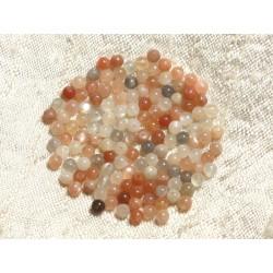 10pc - Perles de Pierre - Pierre de Lune Multicolore Boules 4mm 4558550004321