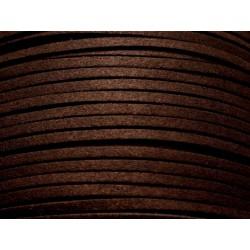 5 mètres - Cordon Lanière Suédine 3x1.5mm Marron Brun Café 4558550004765
