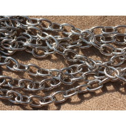1m - Chaîne Acier inoxydable 304L - Grands Ovales 9 x 6 x 1.2mm 4558550005670