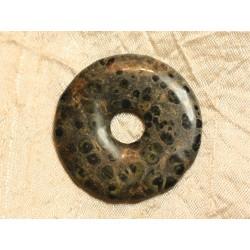 Pendentif Donut Pierre semi précieuse Jaspe Kambaba 45mm n°8 4558550021731
