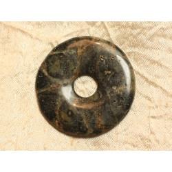 Pendentif Donut Pierre semi précieuse Jaspe Kambaba 45mm n°20 4558550024817