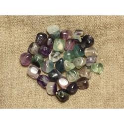 10pc - Perles de Pierre - Fluorite Nuggets 7-10mm 4558550006851