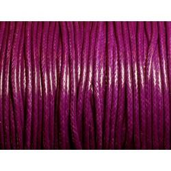 5 mètres - Cordon Coton Ciré 2mm Violet 4558550006882