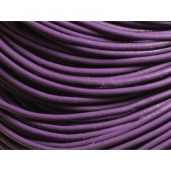 5m - Cordon Cuir Véritable Violet 2mm 4558550007322