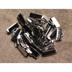 10pc - Embouts Griffe métal argenté qualité Rhodium 13x5mm 4558550007438